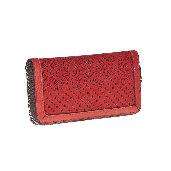 Červená dámska peňaženka bata, červená, 941-5147 - 13