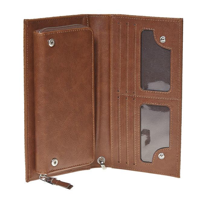 Dámska peňaženka s pútkom bata, hnedá, 941-3148 - 15