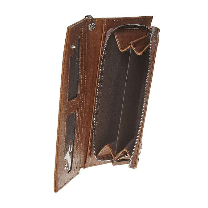 Dámska peňaženka s pútkom bata, hnedá, 941-3148 - 17