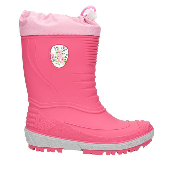 Dievčenské gumáky s výraznou podrážkou mini-b, ružová, 392-5111 - 15