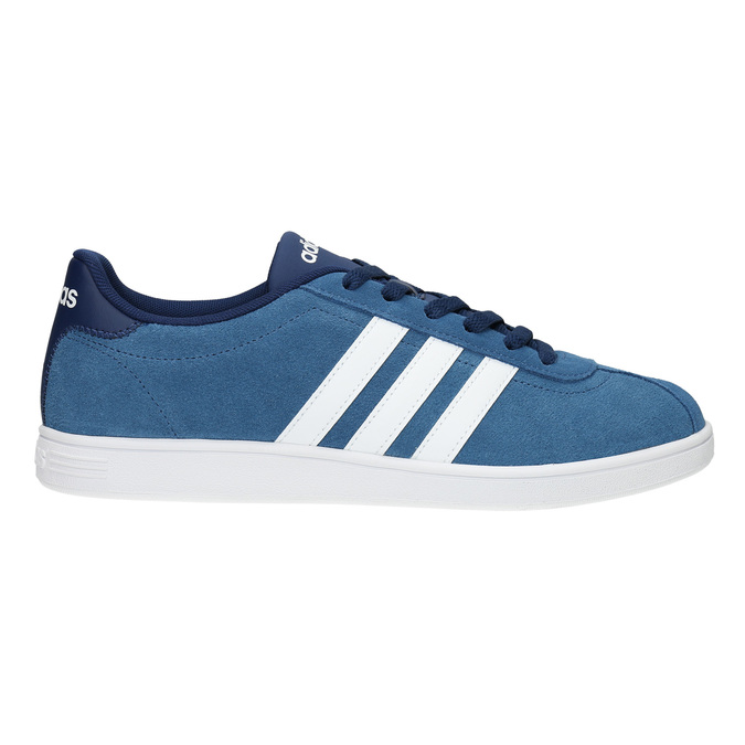 Modré kožené tenisky adidas, modrá, 803-9922 - 15