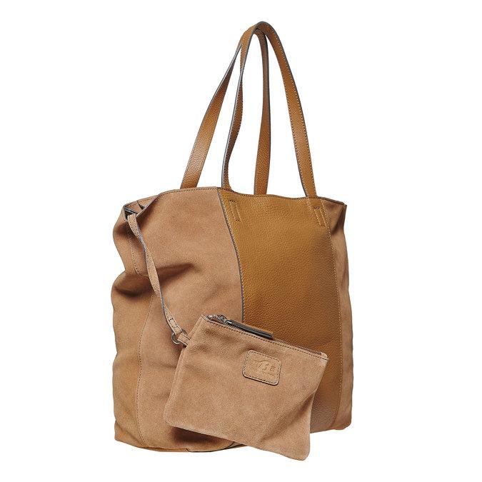 Dámska hnedá kožená kabelka bata, hnedá, 964-3185 - 17