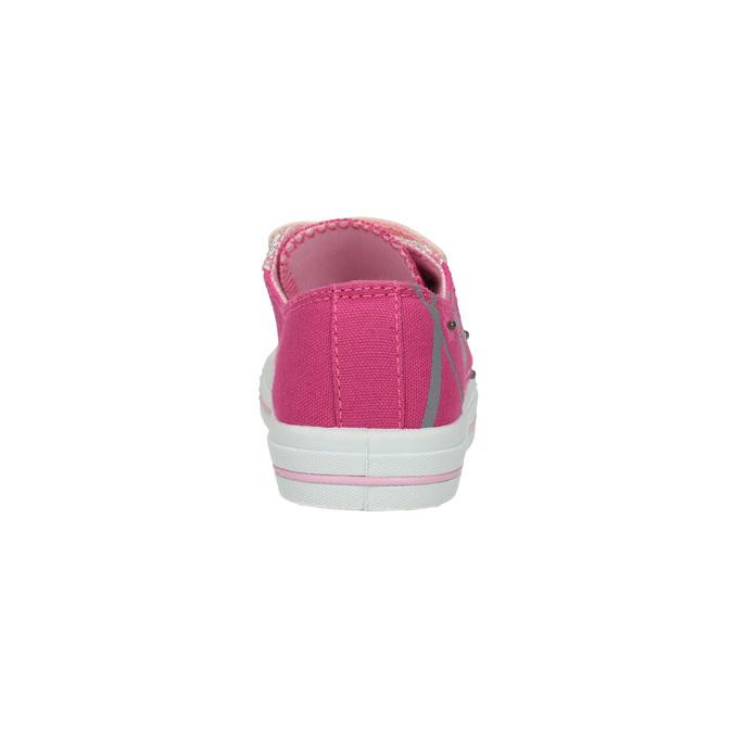 Ružové dievčenské tenisky mini-b, ružová, 229-5183 - 17
