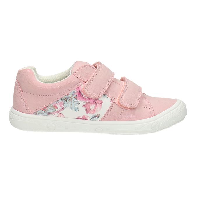 Detské tenisky s kvetinovým motívom mini-b, ružová, 221-5605 - 15