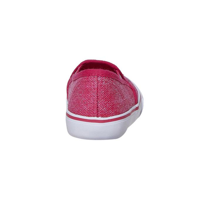 Dievčenské Slip-on obuv s kamienkami north-star, ružová, 229-5193 - 17
