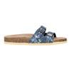 Dámska domáca obuv de-fonseca, modrá, 571-9600 - 15