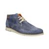 Členková obuv z brúsenej kože weinbrenner, modrá, 843-9625 - 13