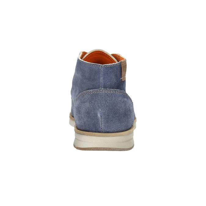 Členková obuv z brúsenej kože weinbrenner, modrá, 843-9625 - 17