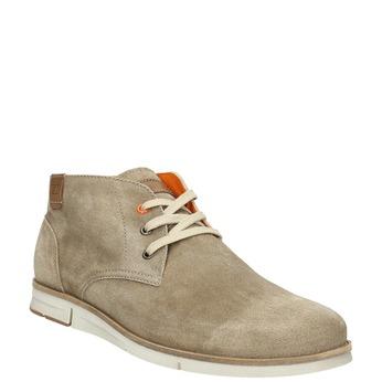 Členková obuv z brúsenej kože weinbrenner, béžová, 843-4625 - 13