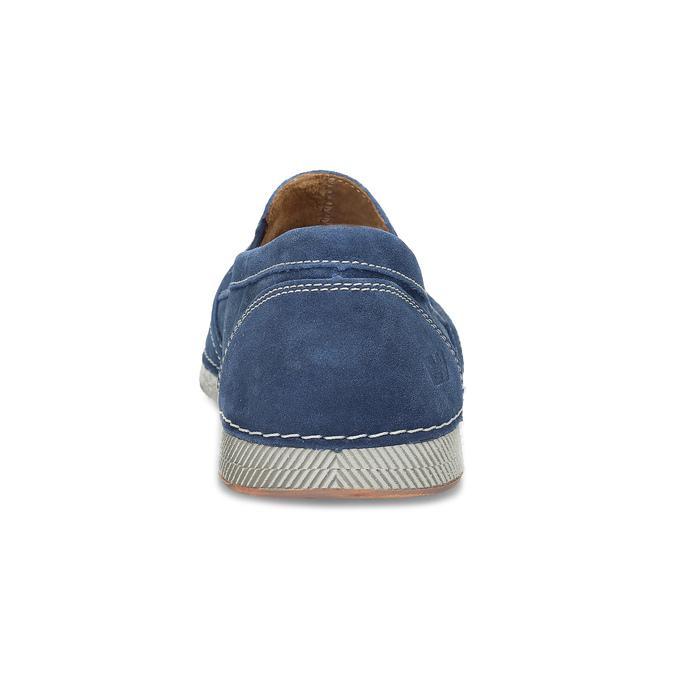 Slip-on z brúsenej kože weinbrenner, modrá, 833-9601 - 15