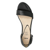 Sandále na klinovom podpätku bata, čierna, 661-6601 - 19
