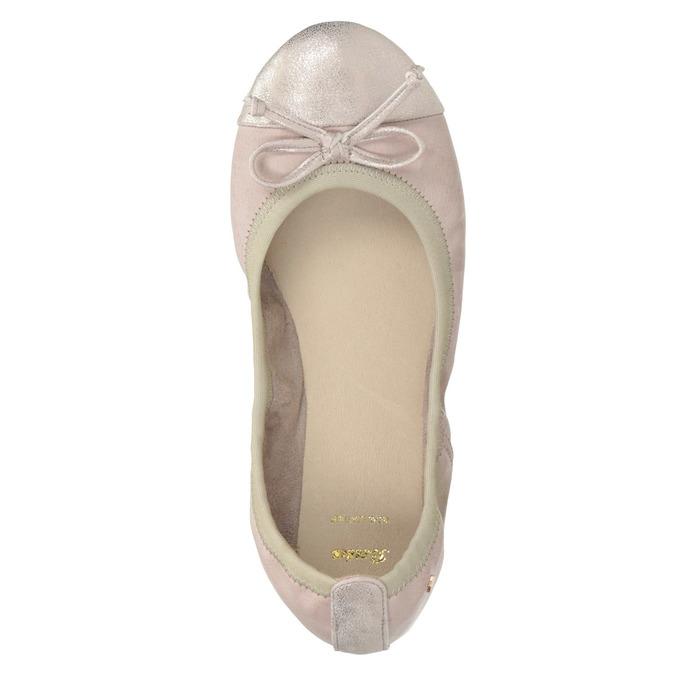 Dámske baleríny s pružným lemom bata, ružová, 521-8601 - 26