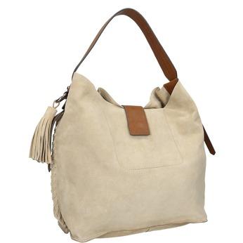 Kožená dámska Hobo kabelka bata, hnedá, 963-8103 - 13