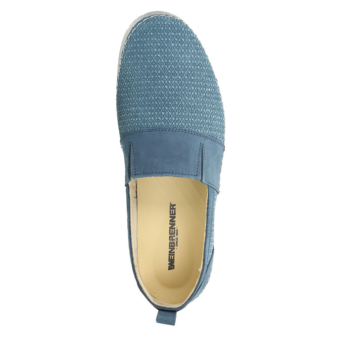 Kožené Slip-on modré weinbrenner, modrá, 513-9263 - 19