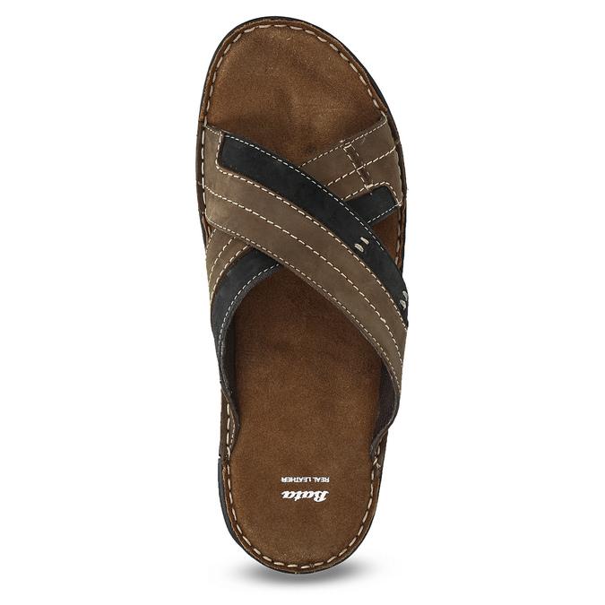 Kožené pánske letné nazuváky bata, hnedá, 866-4612 - 17
