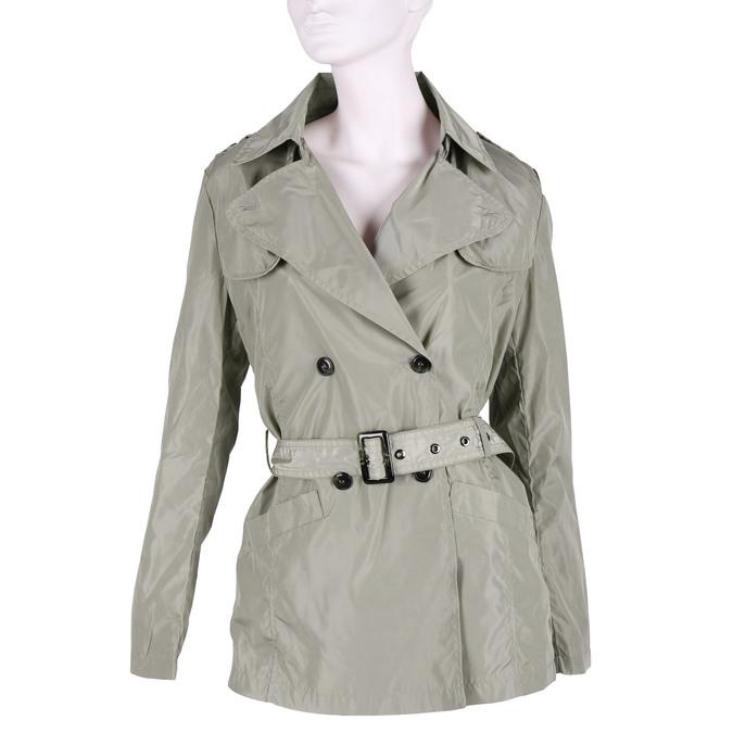 Dámska bunda v trenčkotovom strihu bata, béžová, 979-8205 - 13