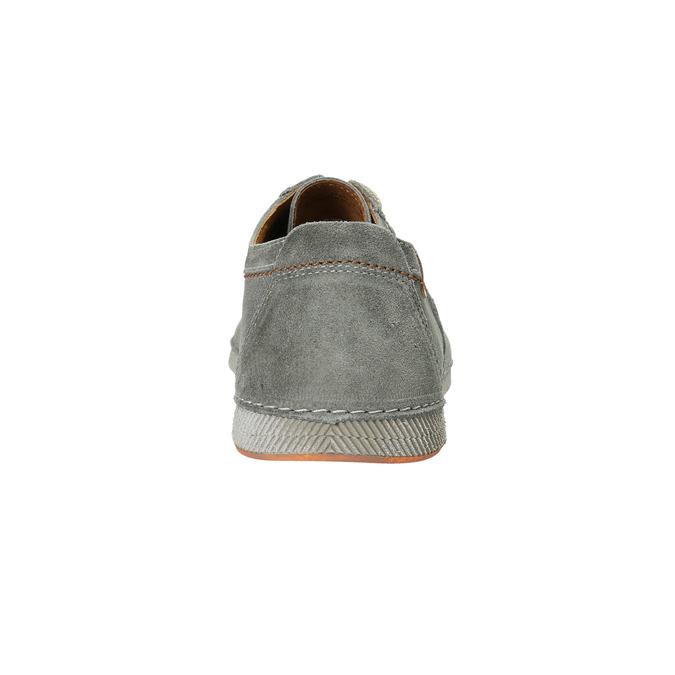 Ležérne šedé kožené poltopánky weinbrenner, šedá, 843-2629 - 17