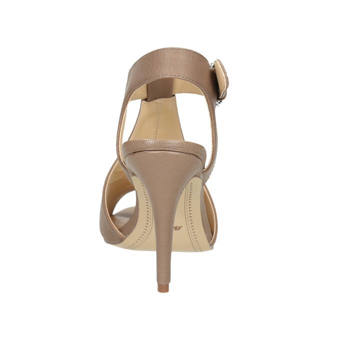 Kožené sandále na ihličkovom podpätku bata, hnedá, 766-4600 - 17