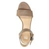 Kožené sandále na kline bata, hnedá, 666-4607 - 19