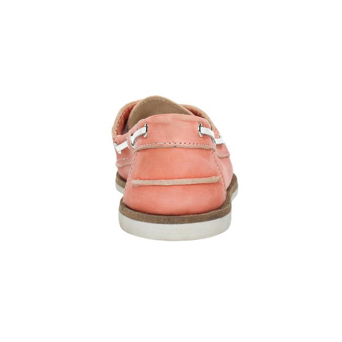 Dámske kožené mokasíny bata, ružová, 526-5632 - 17