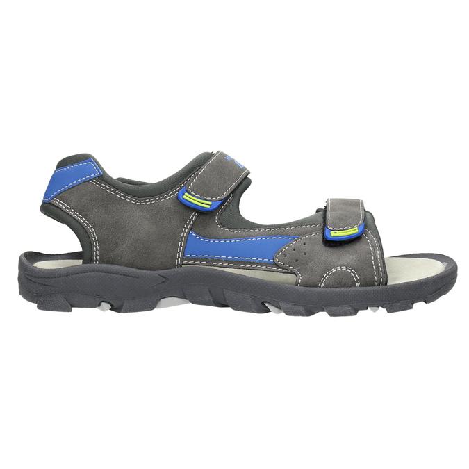 Detské sandále na suchý zips mini-b, šedá, 461-2605 - 15