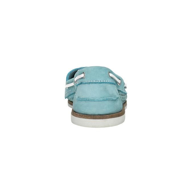 Kožené mokasíny s perforáciou bata, 526-3631 - 17