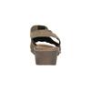 Kožené sandále na klinovom podpätku bata, hnedá, 666-4609 - 17