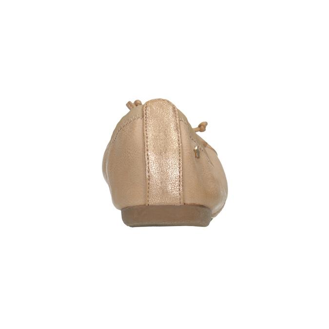 Dámske baleríny s pružným lemom bata, béžová, 521-5601 - 17