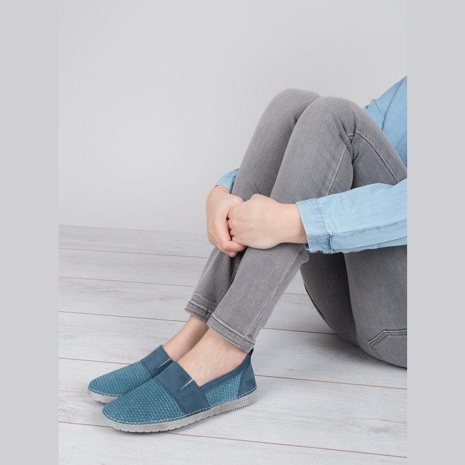 Kožené Slip-on modré weinbrenner, modrá, 513-9263 - 18