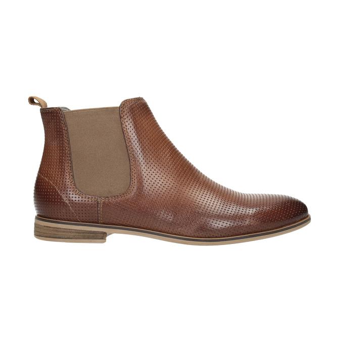 Kožené členkové Chelsea Boots s perforáciou bata, hnedá, 596-4644 - 15