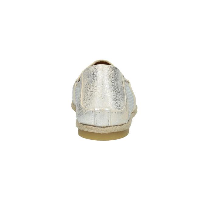 Kožená dámska Slip-on obuv bata, biela, 516-1604 - 17