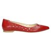 Červené kožené baleríny bata, červená, 524-5604 - 15
