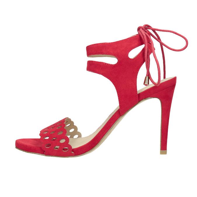 Červené sandále na ihličkovom podpätku bata, červená, 769-5603 - 19