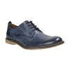 Modré kožené poltopánky bata, modrá, 826-9601 - 13