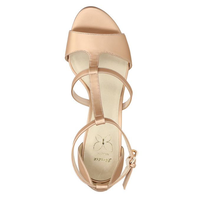 Dámske sandále na podpätku insolia, ružová, 761-5609 - 19