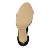 Dámske šnurovacie sandále na podpätku insolia, čierna, 769-6613 - 26
