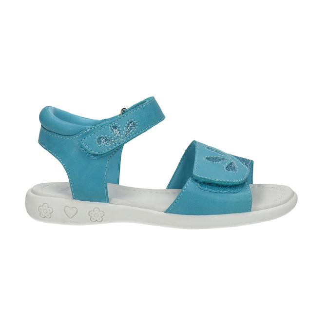 Dievčenské tyrkysové sandále mini-b, 261-9688 - 15