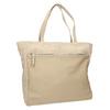 Kožená kabelka s vreckom bata, béžová, 963-8191 - 13