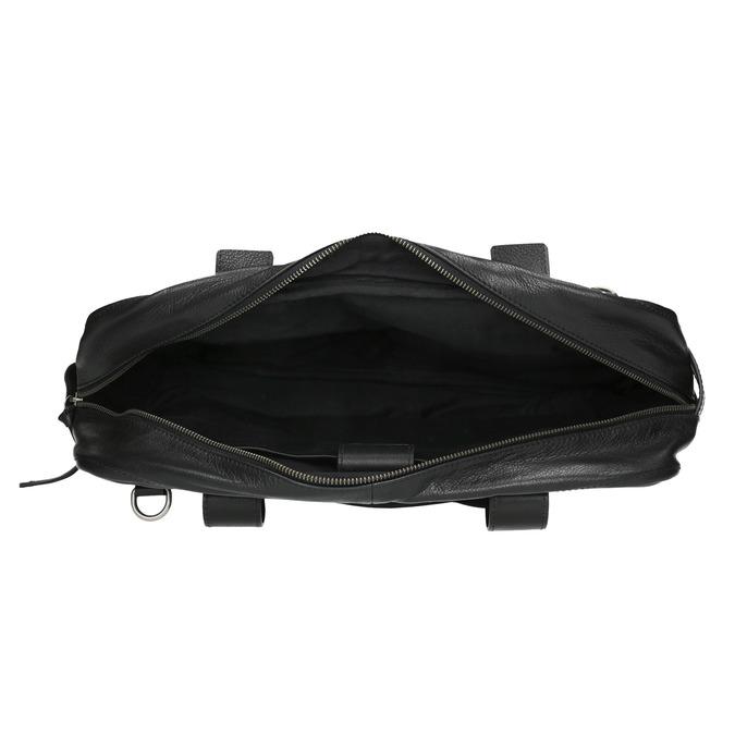 Čierna kožená taška bata, čierna, 964-6228 - 15