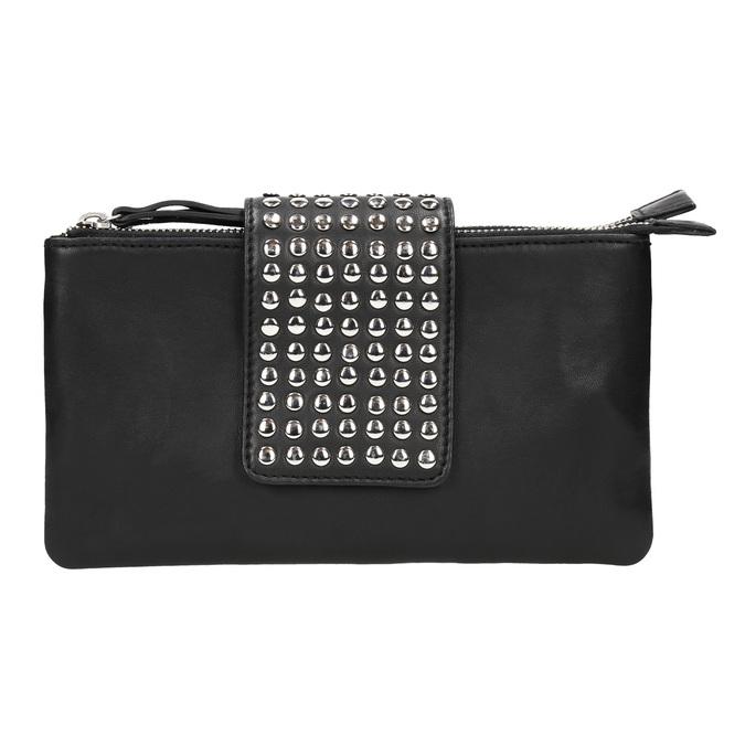 Kožená listová kabelka s dvomi vreckami bata, čierna, 964-6226 - 26