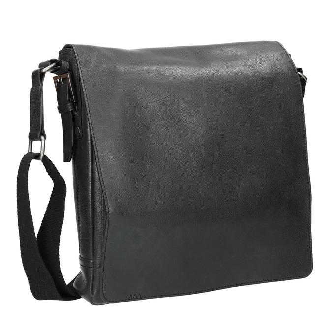 Unisex kožená Crossbody taška bata, čierna, 964-6222 - 13