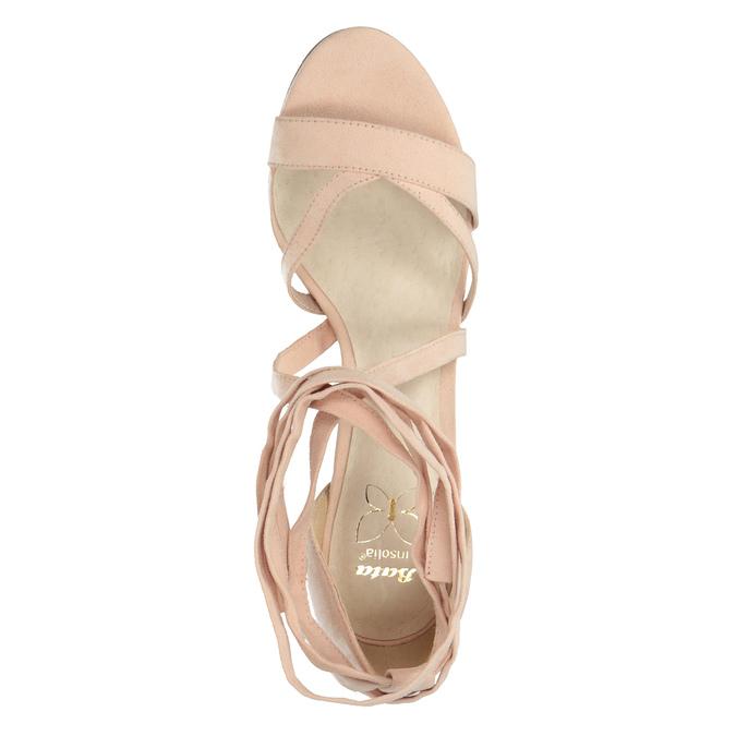 Šnurovacie sandále na podpätku insolia, ružová, 769-5613 - 19