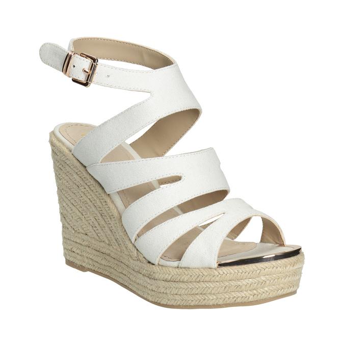 Sandále na platforme bata, biela, 759-1603 - 13