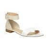 Kožené dámske sandále bata, biela, 568-1606 - 13