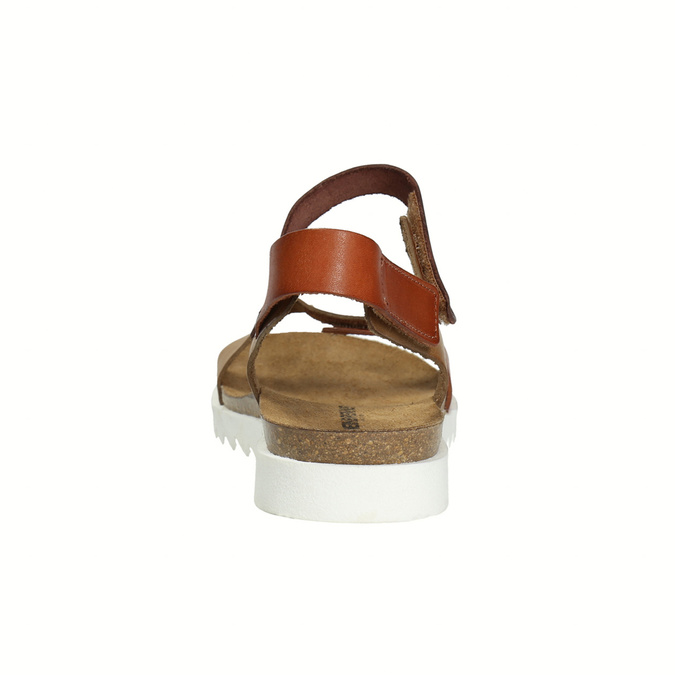Dámske kožené sandále weinbrenner, hnedá, 566-4630 - 17