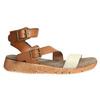 Kožené sandále na výraznej podrážke weinbrenner, hnedá, 566-4627 - 15