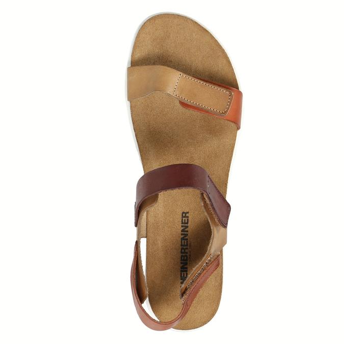 Dámske kožené sandále weinbrenner, hnedá, 566-4630 - 19