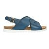 Dámske kožené sandále weinbrenner, modrá, 566-9628 - 15