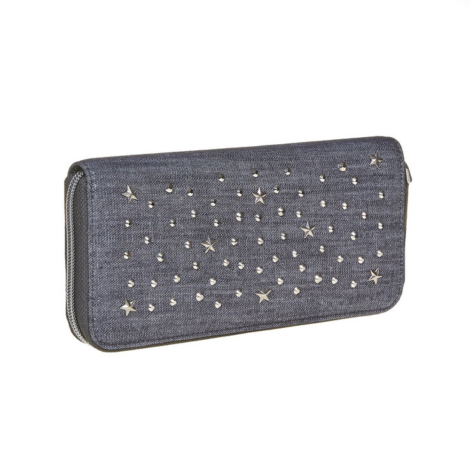 Dámska peňaženka s kovovými cvokmi bata, modrá, 949-9121 - 13