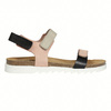 Kožené dámske sandále na suchý zips weinbrenner, ružová, 566-3630 - 15